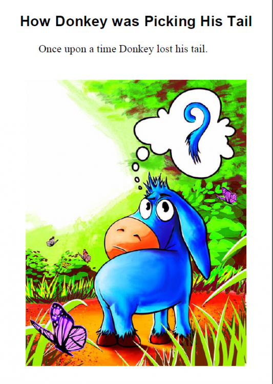 How Donkey Was Picking His Tail ebook preview2
